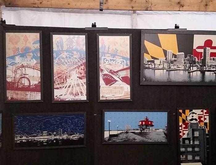 Art By Barton's booth Springfest2016 ... Check out Charlie's work at ArtByBarton.com Artbybarton Oceancitycool OceanCity Maryland Ocmd Loveoc