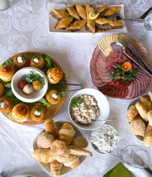 catering food Bakery Buffet Canapes Canapé Catering Food Catering Service Cheese Cold Cuts Colorful Dairy Product Food Food And Drink Food Decoration Ocassion Pastry Platter Pork Roll Salami Table Tzatziki Wedding