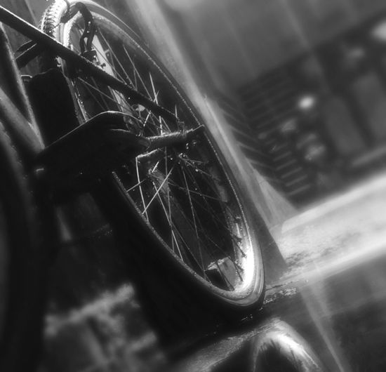 The old bike Transportation Close-up Outdoors Rainy Days Mode Of Transport Old And New Iphonephotography Iphone6s