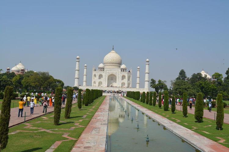 Agra - India Love Shahjahan Taj Mahal Agra Architecture Building Exterior Clear Sky Dome History Memorial Mughal Seven Wonders Seven Wonders Of The World Taj Tajmahal India Tourism Travel Travel Destinations