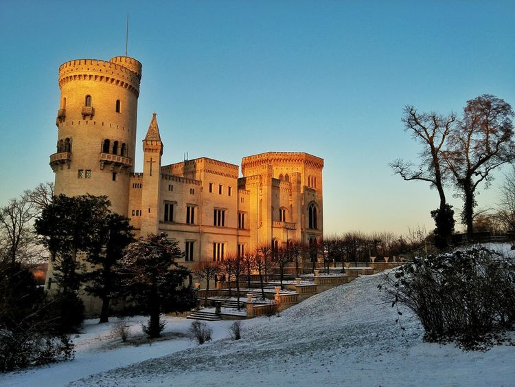 Architecture Architecture Babelsberg Babelsberg Palace Babelsberger Park Building Exterior Built Structure Cold Temperature Historical Building Outdoors Potsdam Sightseeing Sky Snow Sunset Sunsets Tourist Attraction  Winter Winter