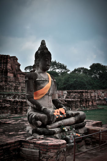 Ancient Civilization Architecture Art And Craft Belief Built Structure Cloud - Sky Craft Creativity History Human Representation Idol Male Likeness No People Place Of Worship Religion Representation Ruined Sculpture Sky Spirituality Statue The Past