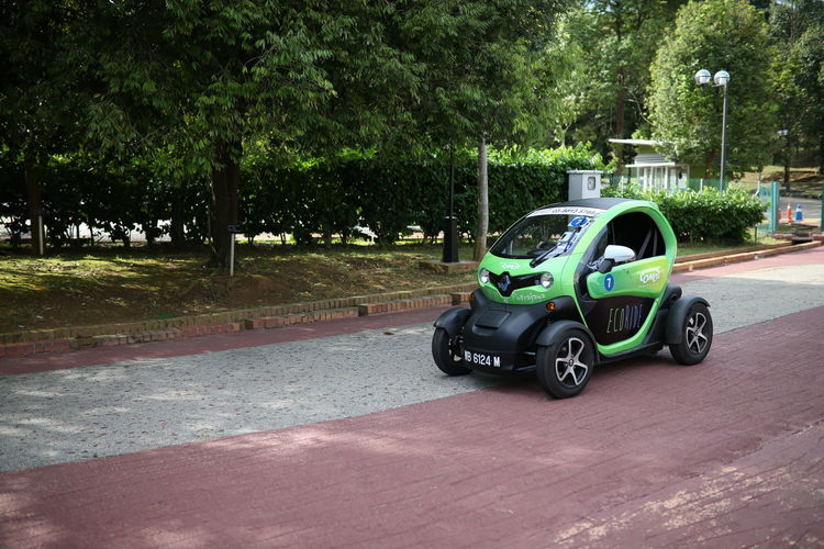Clean Compact Car Electric Car Electrocar Future Green Color Modern Motor Renault Renault Twizy Technology Tiny Transportation Twizy Vehicle