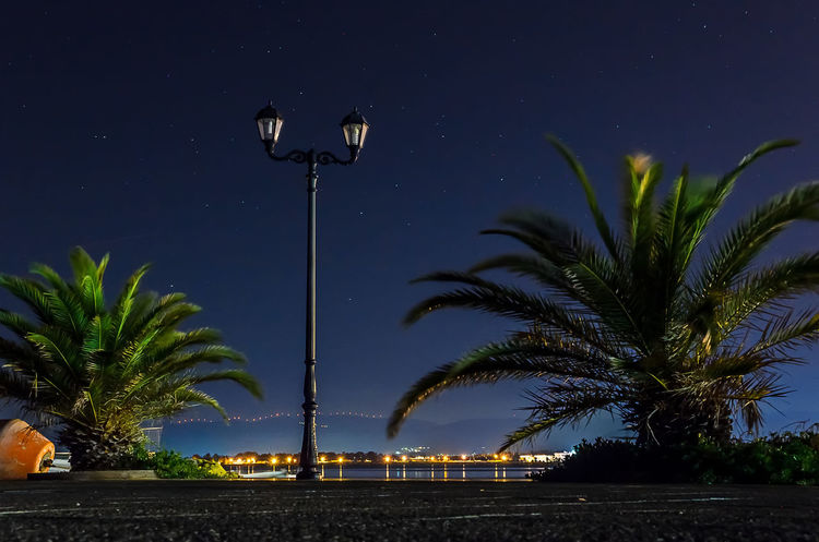 Night Lights of Nafplion port. Learn & Shoot: After Dark Nikon D5100  Long Exposure Nocturne Cityscape Starry Sky