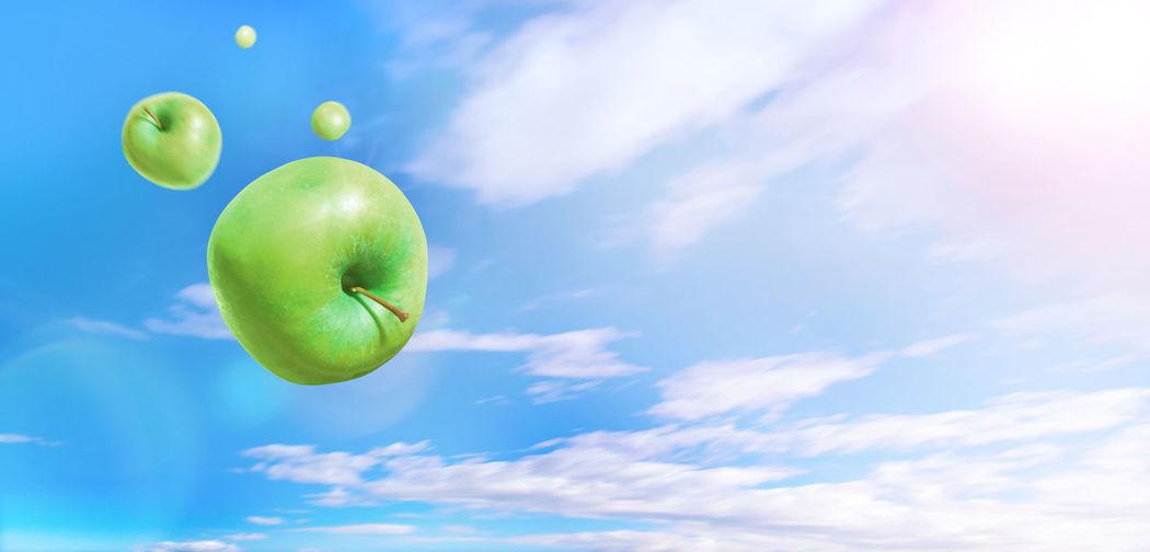 Green apples in