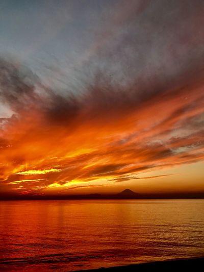 Sunset of shonan Japan