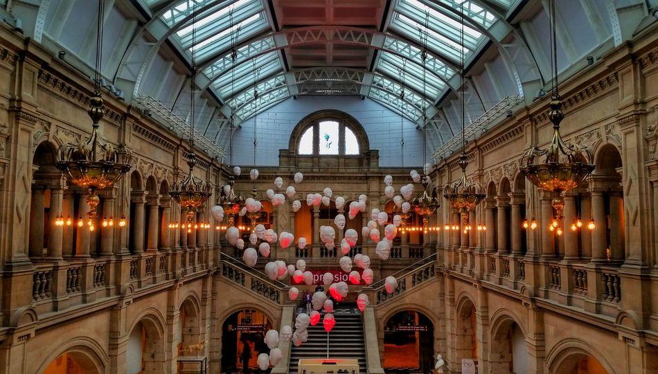 EastCourt Floating heads art installation at KelvingroveArtGalleryAndMuseum KelvingroveArtGallery Kelvingrove Glasgow  Scotland Uk Unitedkingdom Artgallery Art Museum History Architecture Exploring Backpacking Worldtravel