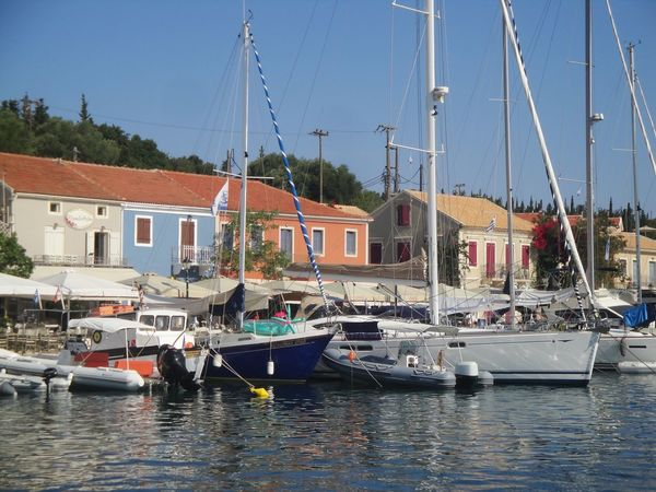 Fiskardo Grecia Cefalonia Nautical Vessel Transportation Water Mode Of Transportation Moored Architecture Built Structure Building Exterior Sailboat Sky Harbor Waterfront Pole Mast Nature Day Sea No People Clear Sky Outdoors Femalephotographerofthemonth 43GoldenMoments