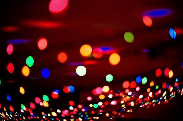 A Christmas Bokeh EyeEm Ready   EyeEmNewHere Defocused Electricity  Light Effect Fairy Lights Pattern Disco Lights Indoors  Spotted Multi Colored Electric Light Glowing Night Lighting Equipment Illuminated Film Filmisnotdead Bokeh Filmphotography Balls Christmas Lights EyeEm Ready