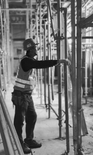 Engineer standing at construction site