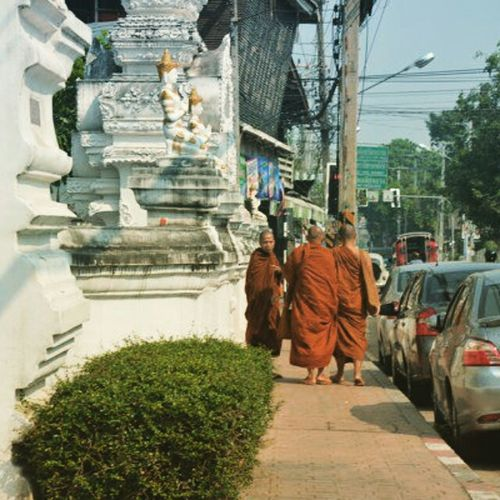 On The Streets Curious Monk  Citylife Check This Out Bangkok, Thailand Everyday Asia Bangkok Travel Photography