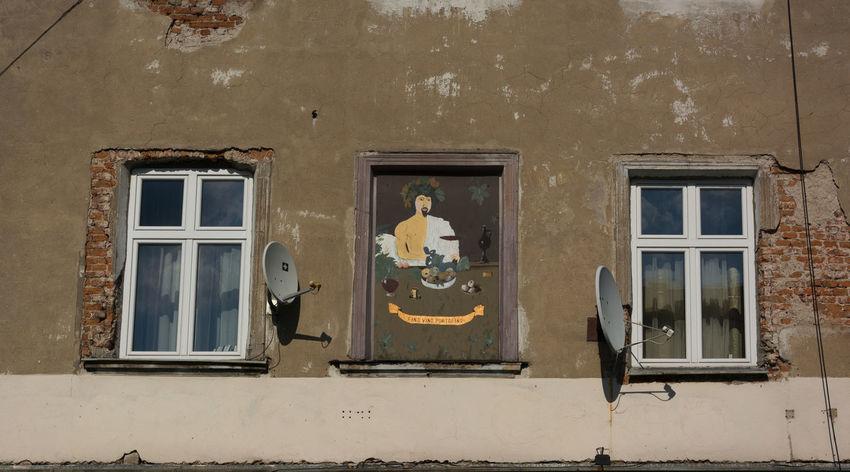 Fino Vino Portofino Architecture Art Cracow Day Drawing Human Representation Krakow Mural Mural Art No People Outdoors Plac Wolnica Polska Window