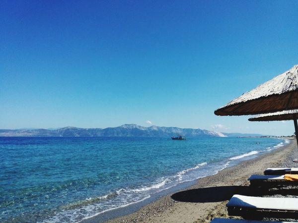 Greece Beach Relaxing Sea Sky Blue Nofilter