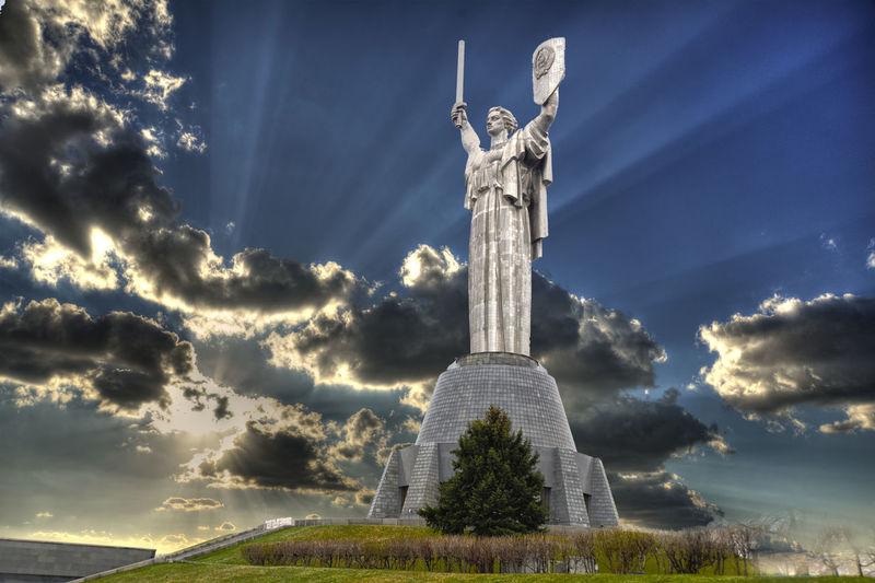 Mother #Motherland, #Kiev - #Ukraine Architecture Cloud - Sky Kyiv,Ukraine Low Angle View Monument Mother #Motherland, #Kiev - #Ukraine Motherland No People Outdoors Sky Statue Travel Destinations Ukraine Victory Ww2 WW2 Museum