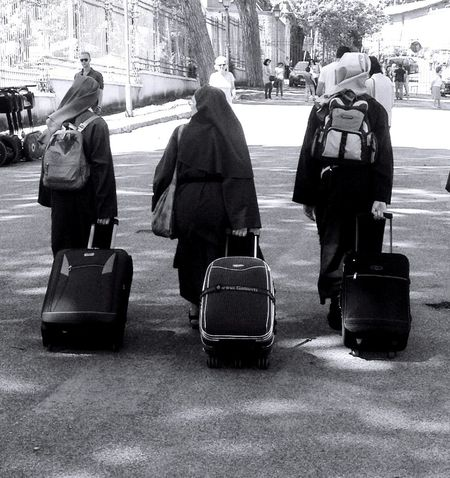 Bye Bye Nuns Taking Photos Eyem Best Shots May @ Ernesto Galizia Contemporary Art Black And White Eye4photography  EyeEm Best Shots Black & White Rome Italy Roma