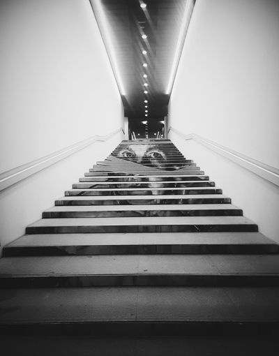 Staircase Stairs Portrait Man B&w Blackandwhite No People Day Indoors  Black And White Centre Pompidou Malaga Art Gallery Places Arts Culture And Entertainment Art Black And White Friday