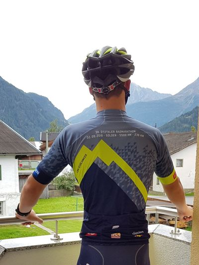 238 km, 5500 Höhenmeter (Ötztaler Radmarathon) 👍 Cycling ötztal Landscape Alpen Berge Wonderful Alps Ötztaler Radmarathon Marathon Headwear Sport Sports Clothing Athlete Standing Sportsman Men Front View Sky