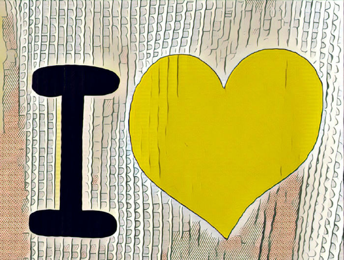 Heart Picture Heart Shape Yellow Colored Creativity Close-up Communication Emotion Shape Text Like illustration Leather Style Nuances Yellow Colored