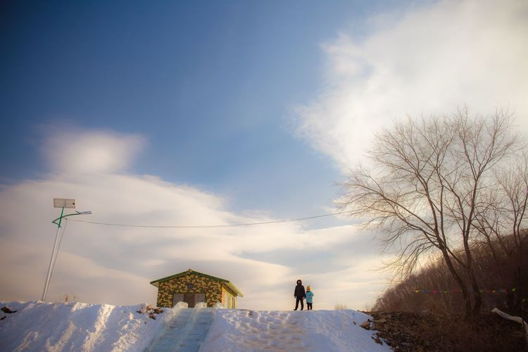 Sky Cloud - Sky Real People Nature Leisure Activity Beauty In Nature Snow