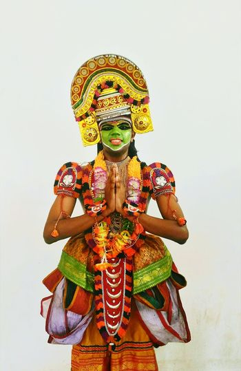 Ottamthullal costume.... Traditional Traditional Costume Ottamthullal in God's_own_country India The Portraitist - 2017 EyeEm Awards The Mobile Photographer - 2019 EyeEm Awards