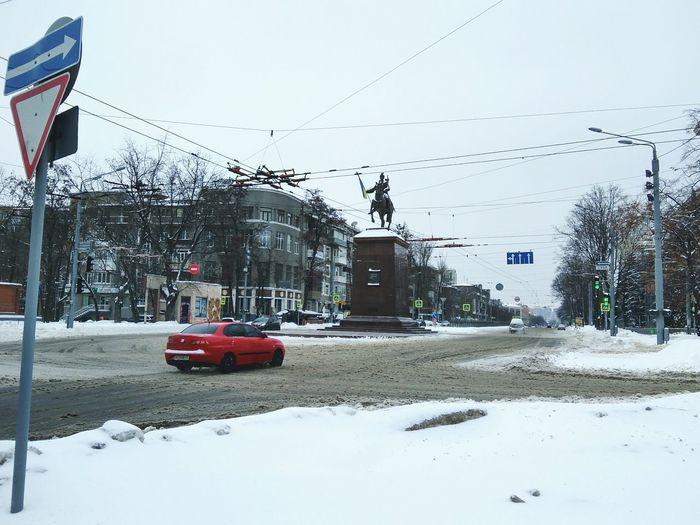 Car Transportation Mode Of Transport Land Vehicle Road No People Outdoors Nature Day Sky Nature Beauty In Nature Winter Ukraine Kharkiv Hometown Motherland Bogdan