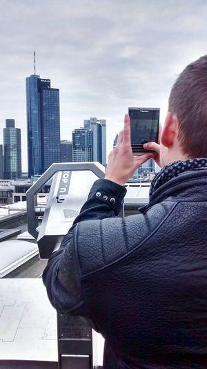 Germany Frankfurt Skyline. Frankfurt Am Main Frankfurt Selfies Selfie ✌ Blackberry Blackberrypassport People Germany Live Is Beautiful Selfportrait Eye4photography  Travel Eyemgermany Belstaff Drykorn Skyline City Skyline