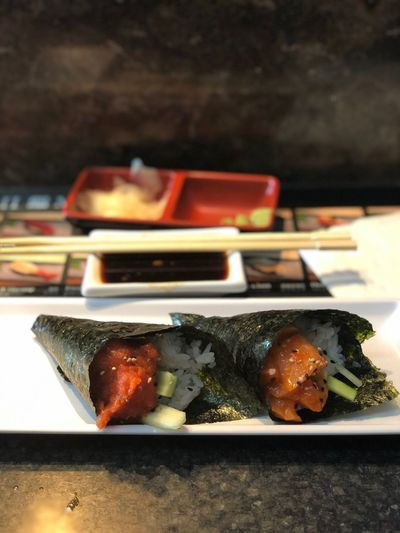 Love hand rolls Sushi Foodphotography Food Food And Drink Freshness Indoors  Still Life Seafood Ready-to-eat