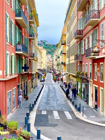 Color + House Côte D'Azur France Nice Citystreets Building Exterior Built Structure Architecture City Sky Street The Mobile Photographer - 2019 EyeEm Awards Road The Way Forward Day