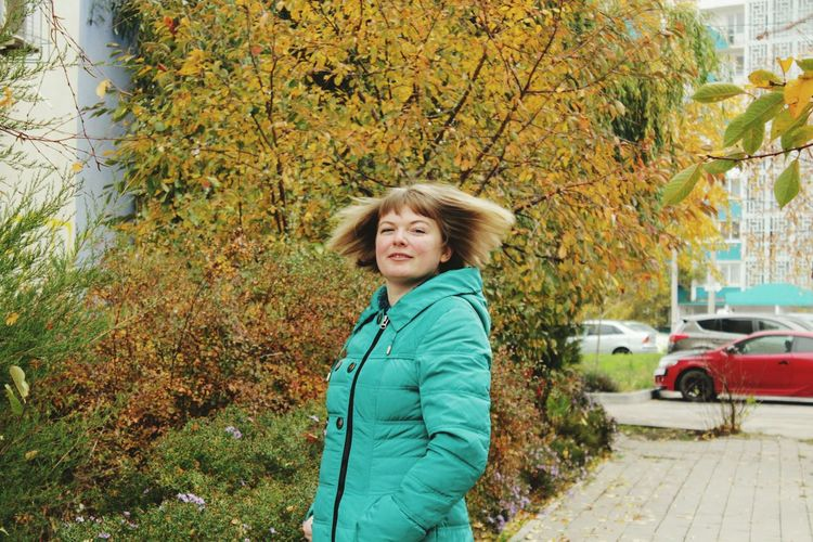EyeEm Selects Autumn Smiling Outdoors Senior Adult Leaf Looking At Camera Happiness Portrait Nature One Woman Only Only Women One Person Senior Women Women Mature Adult Tree Adult Day Lifestyles Adults Only