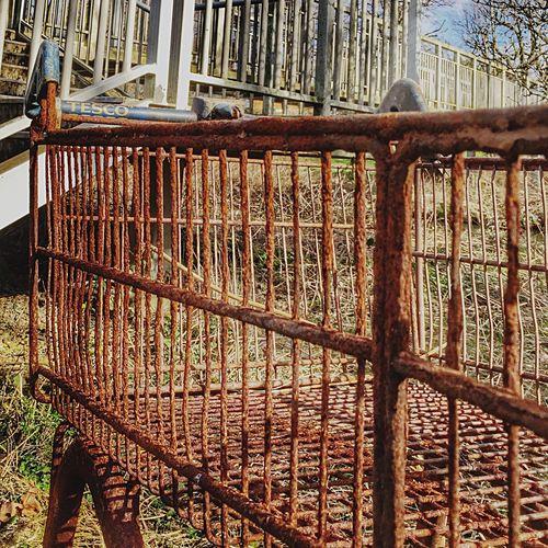 Rusty Metal Shopping Trolley