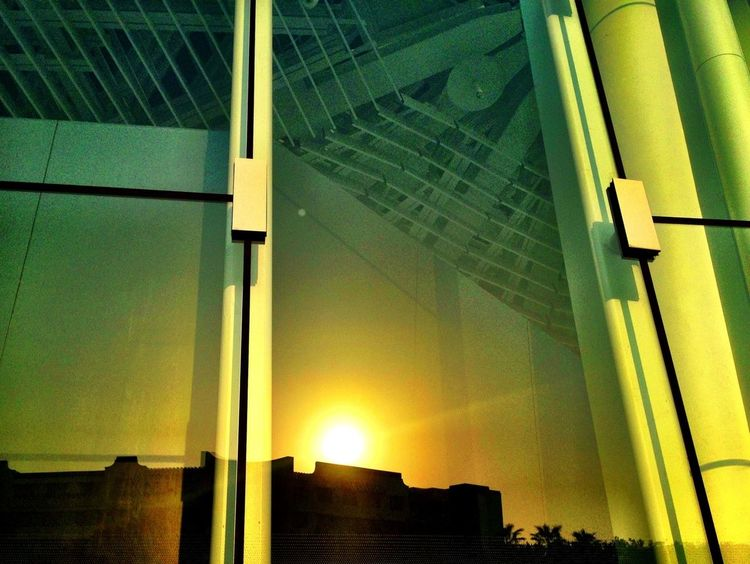 Reflection Sunset Building Sun_collection
