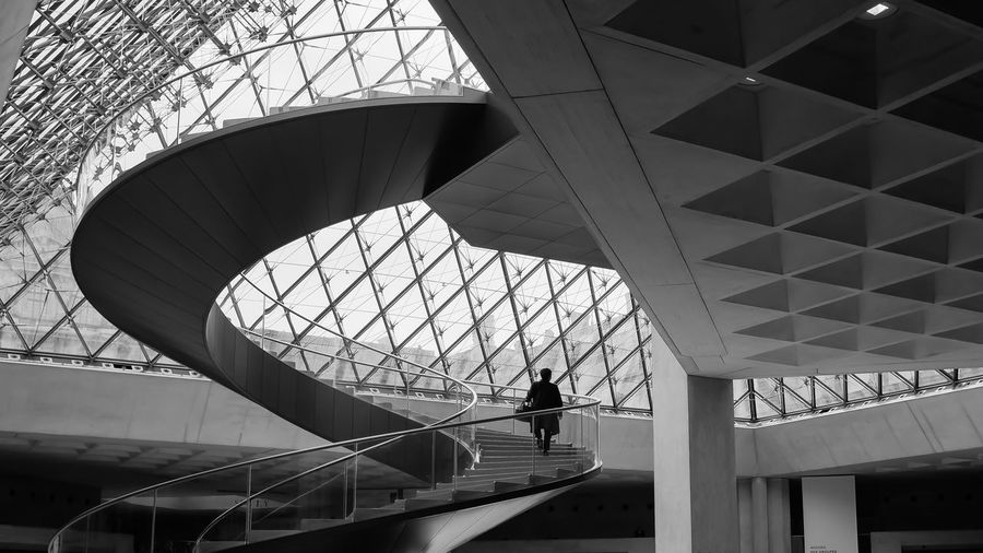 Architectural Feature Architecture Building Built Structure Capital Cities  Design Directly Below France Geometric Shape Light And Shadow Lonley Modern Paris Sky Stairs The Street Photographer - 2016 EyeEm Awards