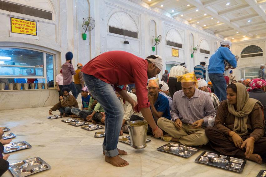 Beleave Dehli Food Free Food  India Indian Culture  People People Eating Religion Sikh Sikh Temple Sikhism Sikhs