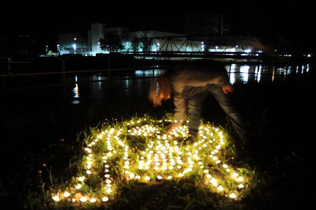 AKW Beznau Candle Der Schrei Direct Action Night Nuke Schweiz
