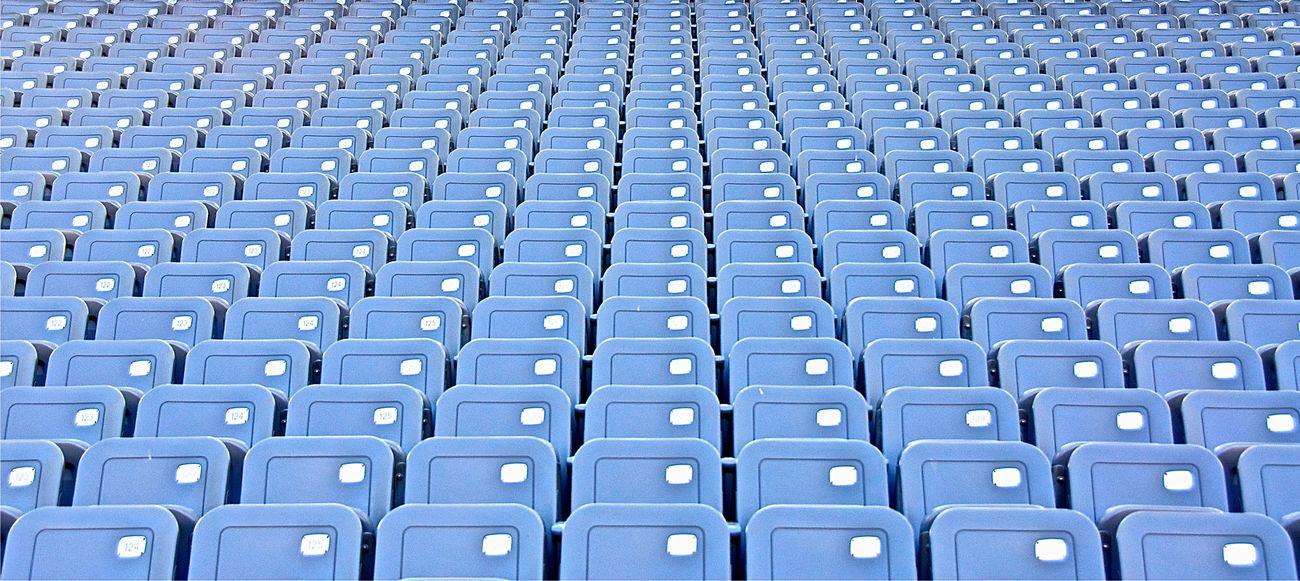 Beautifully Organized EyeEm Market © Empty Chairs Repetition Stadium Eyeem Market