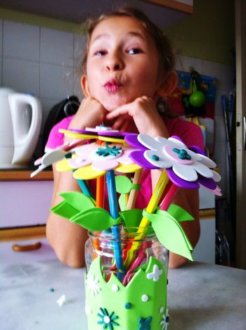 Snapshots Of Life Kids Pencils Bouquet Crayons Isn't She Lovely? Playful