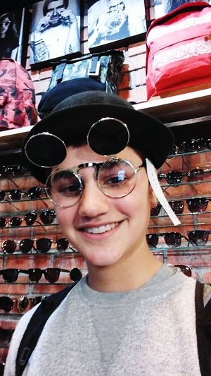 Picturing Individuality Bowler Hat Cool Glasses