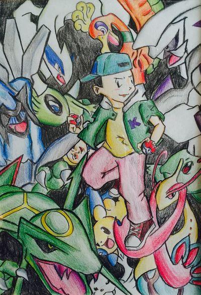 Pokémon ポケモン 納得いかない出来栄え。また一から描き直す