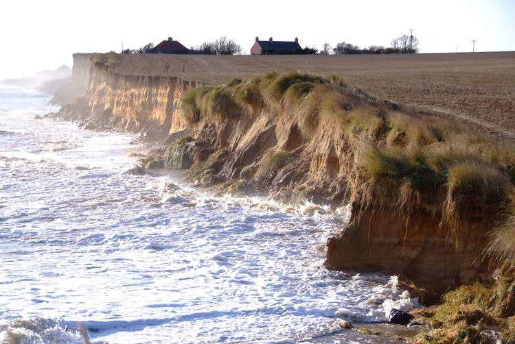 Coastal erosion. Storm surge southwold Coastal Erosion Cliffs Storm Surge Southwold