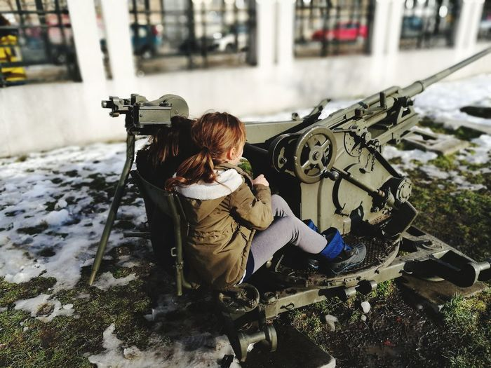 weapon girls Military Museum Military Girls EyeEm Selects Child Childhood Full Length City Water Preschool Age Only Girls Children
