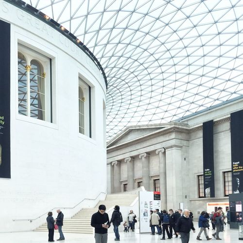 People visiting british museum