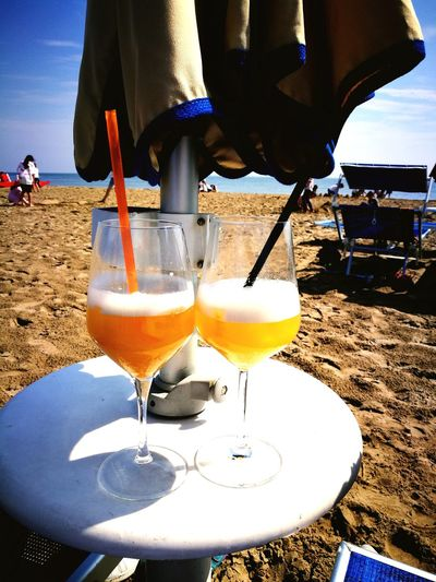 Beachside Italy Cervia Ital Sand Beach Cool Drinks Analcolic Summer Relaxing Vacation Holiday Travel Alcohol Tropical Drink Drink Beach Sea Cocktail Drinking Glass Sunset Drinking Straw