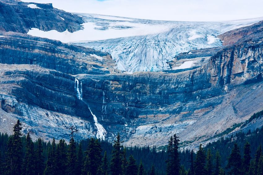 Athabaskan Glacier in all its glory. Waterfall Glacier EyeEm Selects Mountain Snow Snowcapped Mountain Landscape Nature Mountain Range Scenics Extreme Terrain Majestic Cold Temperature Beauty In Nature Mountain Peak Wilderness No People Day Outdoors