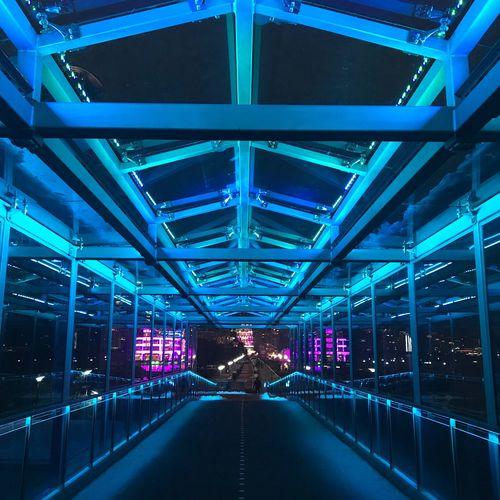上海 Architecture Illuminated The Way Forward Built Structure Indoors  Bridge - Man Made Structure No People First Eyeem Photo