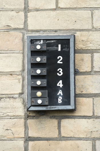 Old door bell buttons Alert Apartment Apartments Button Buttons Communication Door Bell Entrance Entry Flats No People Number Old