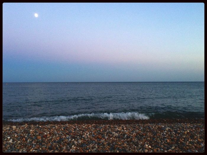 stroll on the beach last night in Hove Beach Times