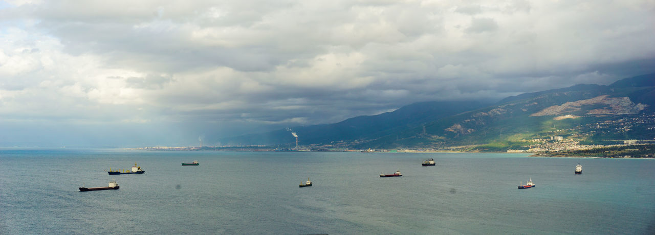 iskenderun, liman, sky, sea, port Port Panaromic Pier Sea Cloud - Sky Nautical Vessel Outdoors Day Mountain Water Sky