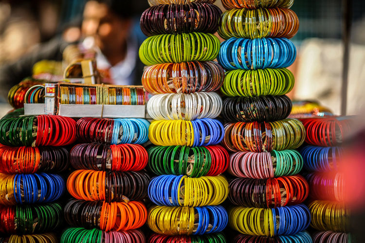 Abundance Arrangement Bangle Blue City Choice Close-up Colorful Day For Sale India Indoors  Large Group Of Objects Market Multi Colored No People Retail  Travel Destinations Travel Photography Variation