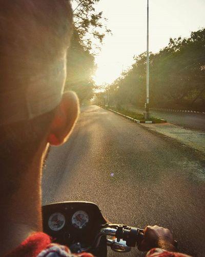 Bike ride. Bike Ride Evening Pondicherry Eveningride