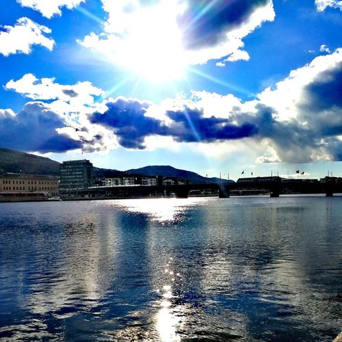 Water Cloud - Sky Rivercity  Drammen Norway🇳🇴 2017 Huawei Instagram SVPVP PHOTAGRAFER Magazine 2017 Bestshot Eye4photography  HuaweiP10 Admiring Art Beauty In Nature Reflection Outdoors No People EyeEm Selects Testing Huawei P10 Perspectives On Nature Rethink Things Postcode Postcards EyeEmNewHere Trending Now